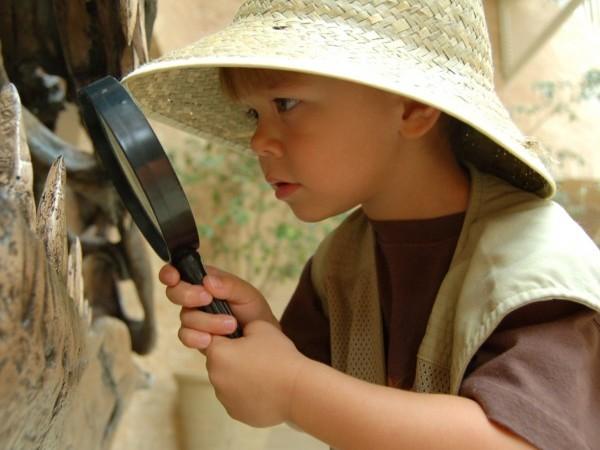 excursion niños dinosaurios